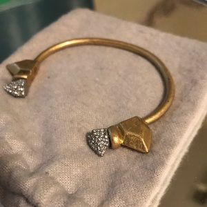 NWOT Madewell Gold Cuff with Silver Studs